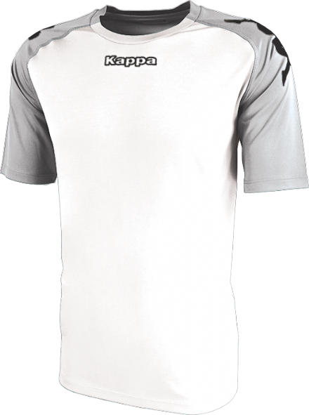Paderno Match Shirt SS White / Ash Grey